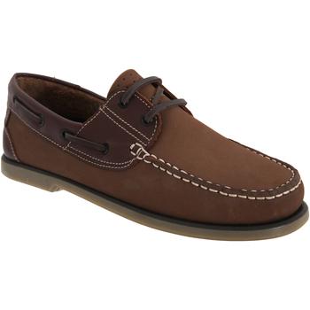 Schoenen Heren Bootschoenen Dek  Bruin Nubuck/Leder