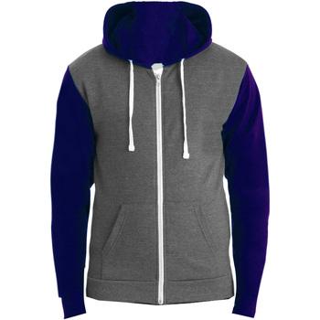 Textiel Heren Sweaters / Sweatshirts Awdis JH059 Houtskool Grijs/Oxford Navy