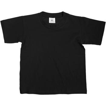 Textiel Kinderen T-shirts korte mouwen B And C TK300 Zwart