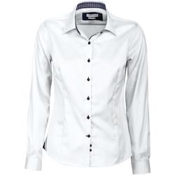 Textiel Dames Overhemden J Harvest & Frost JF006 Witte/scheepvaart