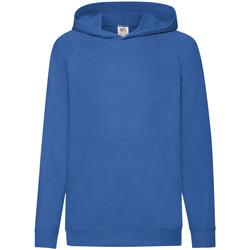 Textiel Kinderen Sweaters / Sweatshirts Fruit Of The Loom 62009 Royaal Blauw