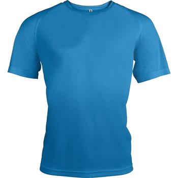 Textiel Heren T-shirts korte mouwen Kariban Proact PA438 Aqua