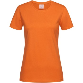 Textiel Dames T-shirts korte mouwen Stedman  Oranje