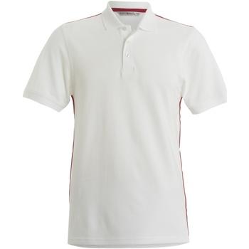 Textiel Heren Polo's korte mouwen Kustom Kit KK603 Wit/rood