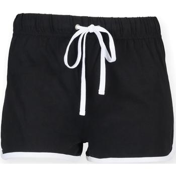Textiel Dames Korte broeken / Bermuda's Skinni Fit SK069 Zwart/Wit