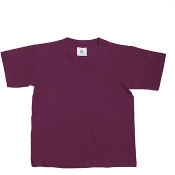 Textiel Kinderen T-shirts korte mouwen B And C TK300 Bourgondië