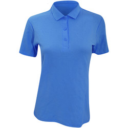 Textiel Dames Polo's korte mouwen Anvil 6280L Zwembad Blauw