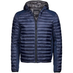 Textiel Heren Dons gevoerde jassen Tee Jays TJ9610 Admiral Navy/Navy Melange