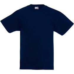 Textiel Kinderen T-shirts korte mouwen Fruit Of The Loom 61019 Donker Marine