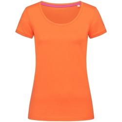 Textiel Dames T-shirts korte mouwen Stedman Stars  Pompoen