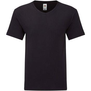 Textiel Heren T-shirts korte mouwen Fruit Of The Loom 61426 Zwart