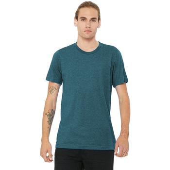 Textiel Heren T-shirts korte mouwen Bella + Canvas CA3413 Staalblauw Triblend