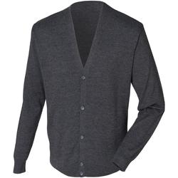 Textiel Heren Vesten / Cardigans Henbury HB722 Grijze Mergel