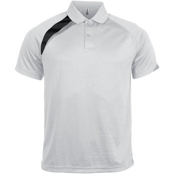 Textiel Heren Polo's korte mouwen Kariban Proact PA457 Wit/ Zwart / Stormgrijs