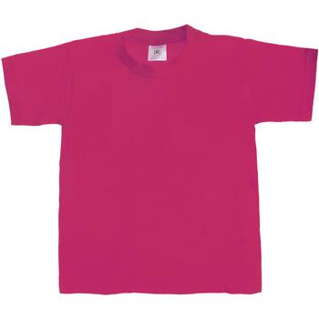 Textiel Kinderen T-shirts korte mouwen B And C Exact 190 Sorbet