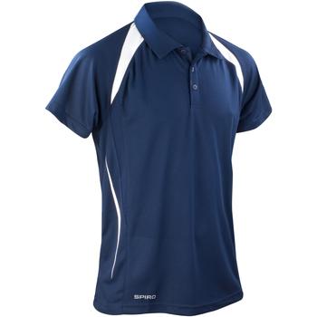 Textiel Heren Polo's korte mouwen Spiro S177M Marine / Wit