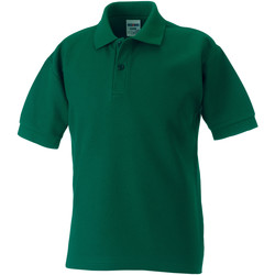 Textiel Jongens Polo's korte mouwen Jerzees Schoolgear 539B Fles groen