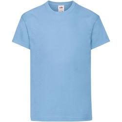 Textiel Kinderen T-shirts korte mouwen Fruit Of The Loom 61019 Hemel Blauw