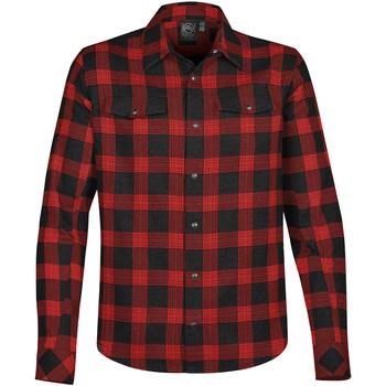 Textiel Heren Overhemden lange mouwen Stormtech Logan Zwart/Rood Plaid