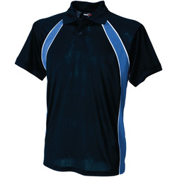 Textiel Heren Polo's korte mouwen Finden & Hales LV350 Marine / Loyaal / Wit