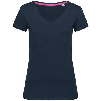 Textiel Dames T-shirts korte mouwen Stedman Stars Megan Blauw
