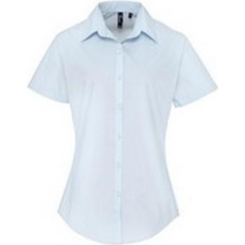 Textiel Dames Overhemden Premier PR309 Lichtblauw