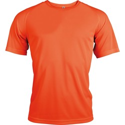 Textiel Heren T-shirts korte mouwen Kariban Proact PA438 Bloemige sinaasappel
