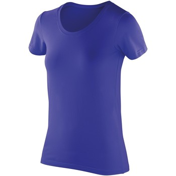 Textiel Dames T-shirts korte mouwen Spiro SR280F Saffier