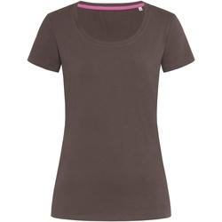 Textiel Dames T-shirts korte mouwen Stedman Stars  Donkere chocolade bruin