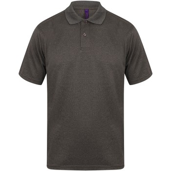 Textiel Heren Polo's korte mouwen Henbury HB475 Heide Houtskool