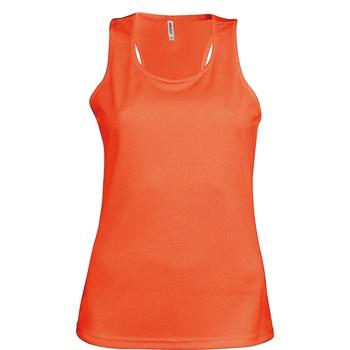 Textiel Dames Mouwloze tops Kariban Proact Proact Fluorescerend Oranje
