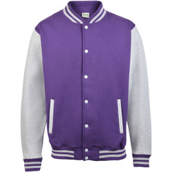 Textiel Kinderen Wind jackets Awdis JH43J Paars / Heide Grijs