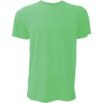 Textiel Heren T-shirts korte mouwen Bella + Canvas CA3001 Heather Groen