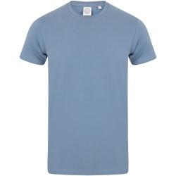 Textiel Heren T-shirts korte mouwen Skinni Fit SF121 Steen Blauw