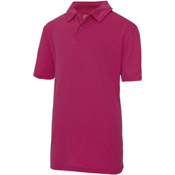 Textiel Kinderen Polo's korte mouwen Awdis JC40J Heet Roze