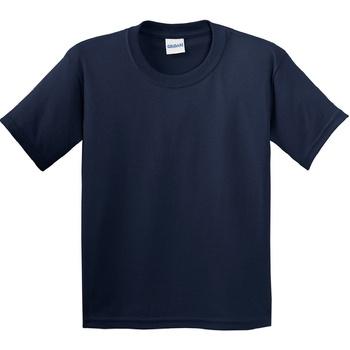 Textiel Kinderen T-shirts korte mouwen Gildan 64000B Marine