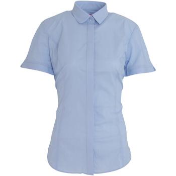 Textiel Dames Overhemden Brook Taverner BK133 Hemelsblauw