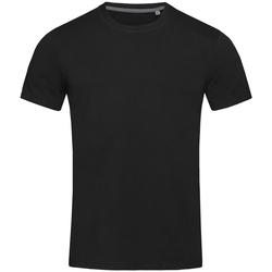 Textiel Heren T-shirts korte mouwen Stedman Stars  Zwart Opaal