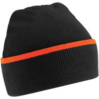 Accessoires Muts Beechfield B471 Zwart/Oranje