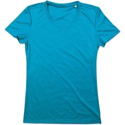Textiel Dames T-shirts korte mouwen Stedman  Hawaii Blauw
