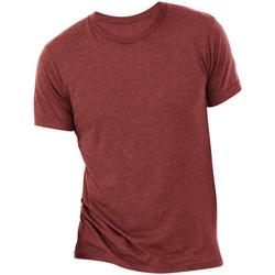 Textiel Heren T-shirts korte mouwen Bella + Canvas CA3413 Kardinaal Triblend