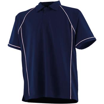 Textiel Kinderen Polo's korte mouwen Finden & Hales LV372 Marine / Wit