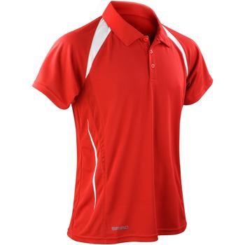 Textiel Heren Polo's korte mouwen Spiro S177M Rood/Wit
