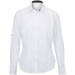 Textiel Dames Overhemden Alexandra AX060 Wit/zwart