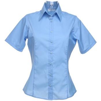 Textiel Dames Overhemden Kustom Kit K742F Lichtblauw