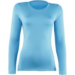Textiel Dames T-shirts met lange mouwen Rhino  Lichtblauw