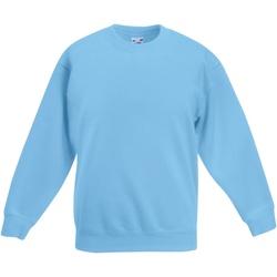 Textiel Kinderen Sweaters / Sweatshirts Fruit Of The Loom SS801 Hemel Blauw