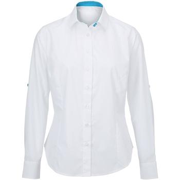 Textiel Dames Overhemden Alexandra AX060 Witte Pauw