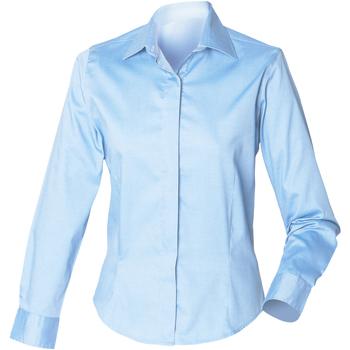 Textiel Dames Overhemden Henbury HB551 Lichtblauw