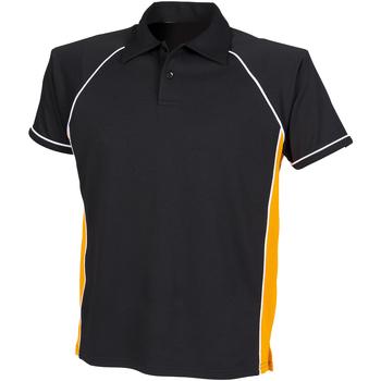 Textiel Kinderen Polo's korte mouwen Finden & Hales LV372 Zwart / Amber / Wit